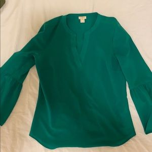 J crew office shirt-green